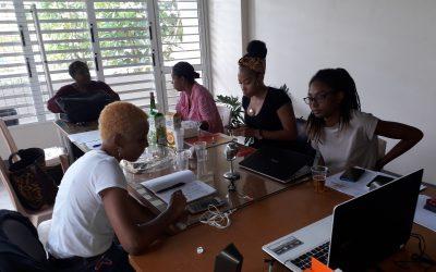Les ambassadeurs(rices) de la Mission Cinéma Caraïbe se préparent pour mener à bien leur mission lors des manifestations de Janvier 2020