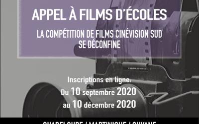 La Mission Cinéma Caraïbe lance son appel à films d'écoles: la compétition CinéVision Sud 2020-2021 se déconfine